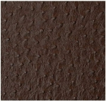 "Mybecca Brown Ostrich Vinyl 54"" Wide Textured Faux Leather Great for Upholstery & Bags Sold by The Yard"