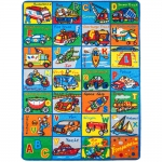 "Kids Rug ABC Transportation Area Rug 7' feet 2"" inch 10' ft (7'2"" X 10')(239cmx343cm) Non Slip Gel Backing Activity Centerpiece Play Mat"
